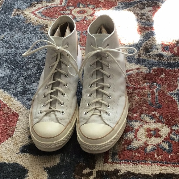 White Leather Converse Chuck Taylor All Stars